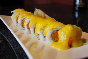 The Sakana-Ya Sushi Bar is slightly more expensive than what college students typically prefer, but would be a perfect location to eat with parents.