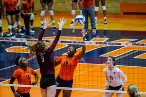 Santita Ebangwese led Syracuse with 14 kills on Friday. It wasn't enough in a five-set loss to N.C. State.