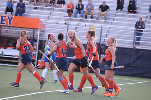 Syracuse advanced to the quarterfinals of the NCAA tournament on Saturday with a dominant win over Harvard.