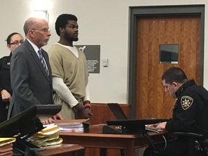 Naesean Howard, right, is shown with his attorney, Ralph Cognetti, last February in Syracuse City Court. Howard pleaded guilty to an April 2016 stabbing incident.