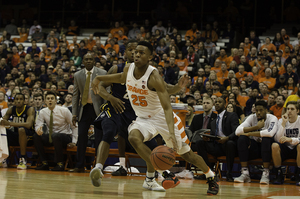 Tyus Battle (pictured) and Andrew White combined to lift most of Syracuse's offense.