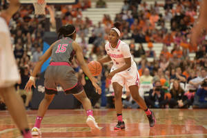 ACC Player of the Year Alexis Peterson will lead Syracuse on Saturday in its opening-round matchup against No. 9 seed Iowa State.