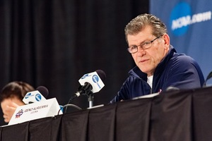 Hall of Fame head coach Geno Auriemma said he didn't expect UConn's magical season to unfold the way it has. The Huskies have won 108 straight games and remain undefeated.