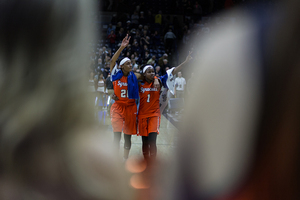 Two program greats walked off the court for the final time in Orange jerseys after losing to UConn on Monday night.