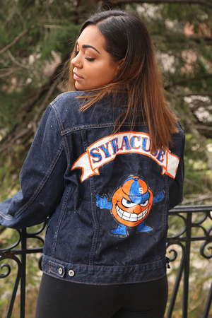 Sophia D'Amico and Natalie Mafrici started cusejacketz this semester to sell custom-decorated apparel through Instagram.
