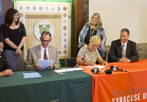 Syracuse University's iSchool and Le Moyne College already have an established partnership, which they also expanded in 2015.