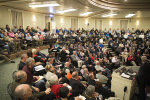 Audience members were engaged at the debate, offering applause and numerous questions for central New York officials.