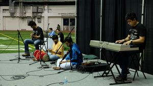 Indian classical music was just one of the cultural performances to grace Manley Field House for the event.