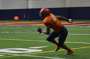 Steve Ishmael will be stepping up as the No. 1 wide receiver on the outside for Syracuse, the spot that Amba Etta-Tawo held last season.