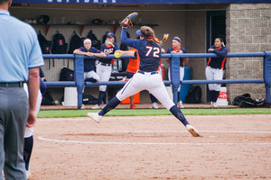 AnnaMarie Gatti went 4 2/3 innings and dominated along the way on Saturday.