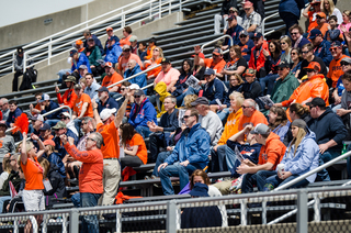 Syracuse fans didn't have much to cheer about — the Orange committed 17 turnovers and nearly lost to an unranked team.